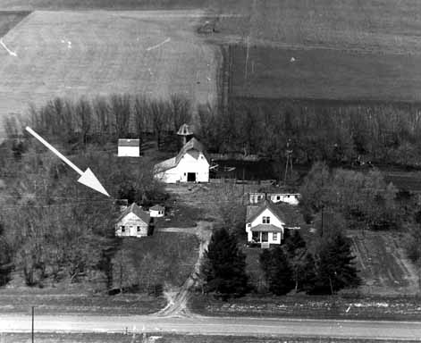 Aerial View of The Outhouse that started the Outhouses of America Tour
