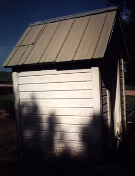 Right Side of the Outhouse