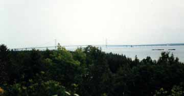 Mackinac Bridge Connecting Upper and Lower Michigan