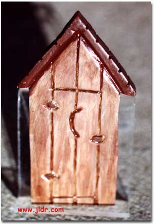 Wooden Outhouse Magnet