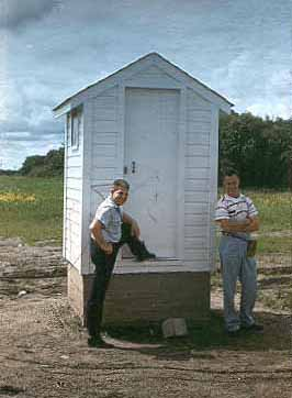 An AT&T Microwave Radio Relay Site Outhouse
