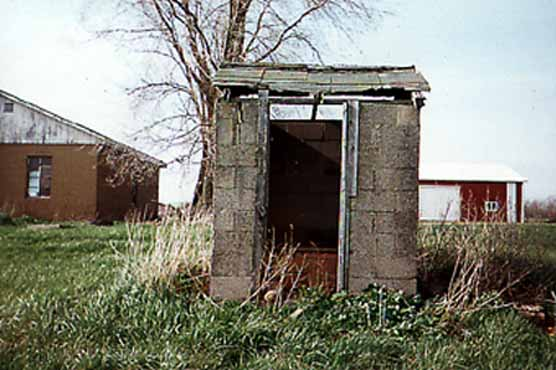 Michigan Cement Block Outhouse