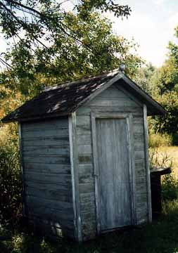 Front View of the Million Dollar Outhouse