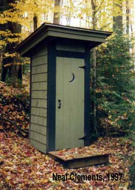 Northeastern PA Camp Outhouse