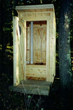 The Ultra-Modern Outhouse that replaced the old one.