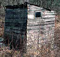 Left Rear of NH 1800's Outhouse