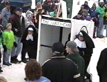 Nuns pushing the Vati-Can