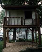 Front View of Elevated Outhouse