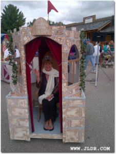 Leweston Timberfest outhouse race