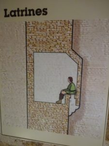 Diagram in a castle showing how the Outhouse works!