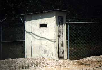 Close-up of the Microwave Tower Outhouse
