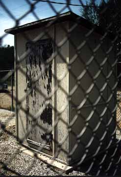 A Through-the-Fence Shot of the Microwave Outhouse