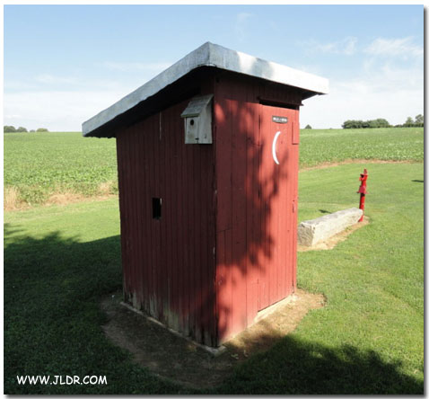 Nice WPA Outhouse in Hopewell Township, Cumberland County, NJ
