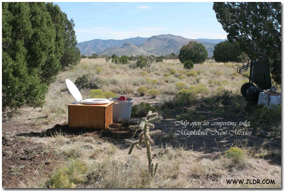 Open Air Composting Toilet in Magdalena, NM