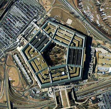 The Pentagon as viewed from space before September 11, 2001