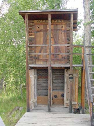 Encampment, Wyoming 2-Story Outhouse