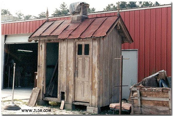 The old outhouse before being rebuilt