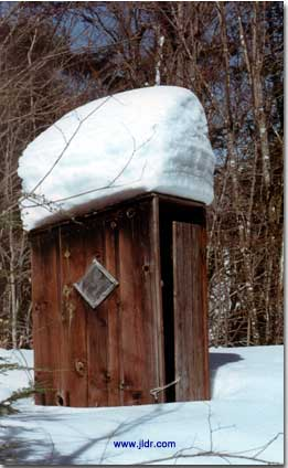 Adirondack Mountains Ski Trail Outhouse