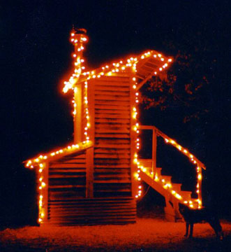 Sky Crapper Junior decked out with Christmas Lights!