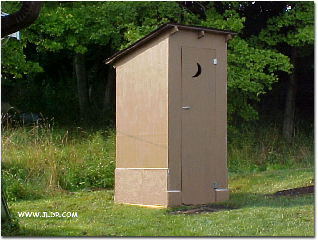 Stillwater, Ohio Outhouse after relocation and restoration