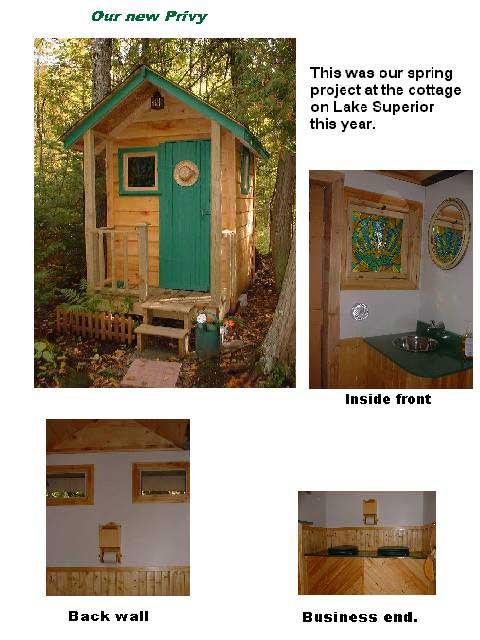 A Great Looking Homebuilt Outhouse