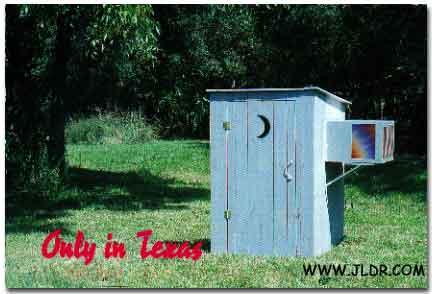 Air Conditioned Outhouse in Texas