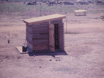 More permanent latrine in Vietnam used by the US Army