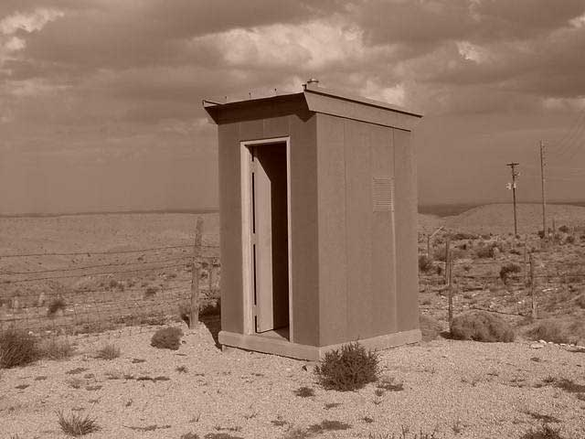 Beautiful view from this outhouse in West Texas