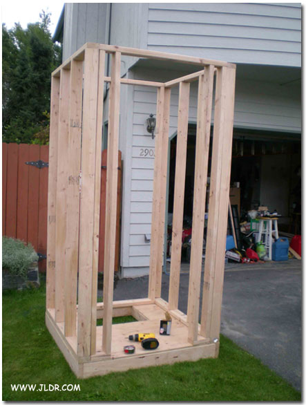 Pre-fabricating the Outhouse at home