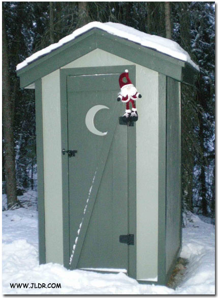 Finished Outhouse in the Winter
